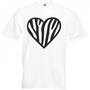 Camiseta corazon de cebra